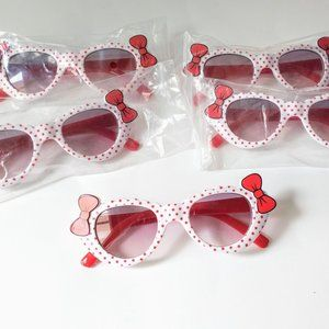 5 Little Girls Kitty Sunglasses UV400 Red Bows